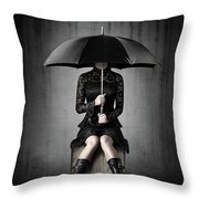 Black Rain Throw Pillow