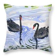 Black Swans - Soulmate Throw Pillow