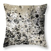 Black White Kit Splatter Throw Pillow by Go Van Kampen