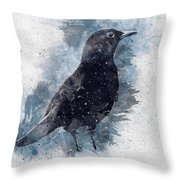 Blackbird Grunge Edition Throw Pillow