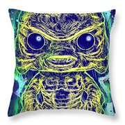 Creature From The Black Lagoon Pop Throw Pillow