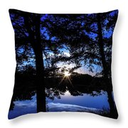 Blau Throw Pillow