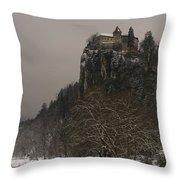 Bled Castle Throw Pillow