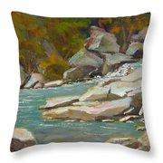 Blindman River, Blackfalds Throw Pillow