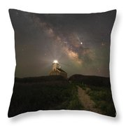 Block Island Night Lights Throw Pillow by Michael Ver Sprill