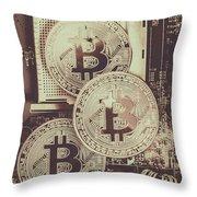 Blocks Of Bitcoin Throw Pillow