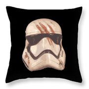 Bloody Helmet Throw Pillow
