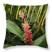 Blooming Plant Throw Pillow