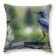 Blu And Blu2 Throw Pillow
