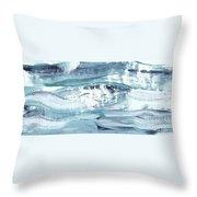 Blue #12 Throw Pillow