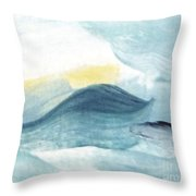 Blue #8 Throw Pillow