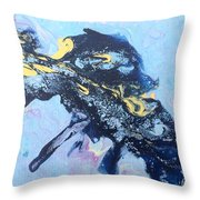 Blue Abstract #3 Throw Pillow