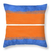 Blue And Orange Abstract Theme Iv Throw Pillow