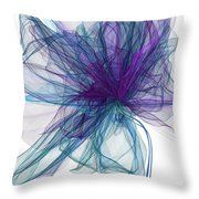 Blue And Purple Art  Throw Pillow by Lourry Legarde