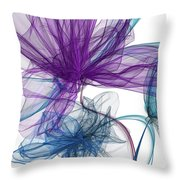 Blue And Purple Abstract Art Throw Pillow by Lourry Legarde
