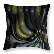 Blue And Yellow Maiz Throw Pillow
