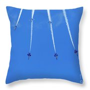 Blue Angels Performing Maneuvers From The Delta Formation At The Throw Pillow