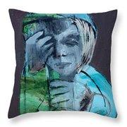 Blue Anorak Throw Pillow