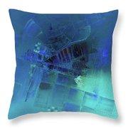 Blue Azure Throw Pillow
