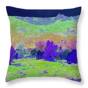 Blue Badlands Rhapsody Throw Pillow