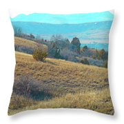 Blue Butte Prairie Reverie Throw Pillow