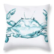 Blue Crab Turcoise Throw Pillow