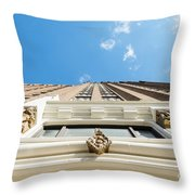 Blue Half Throw Pillow