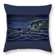 Blue Hour At Bandon Beach Throw Pillow