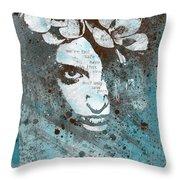 Blue Hypothermia Throw Pillow