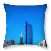 Blue Middle Throw Pillow