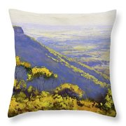 Blue Mountains Australia Throw Pillow