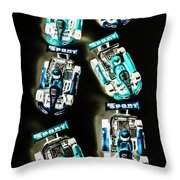 Blue Racers Throw Pillow