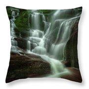 Blue Ridge Mountains Cascade Throw Pillow