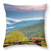 Blue Ridge Parkway View Throw Pillow by Ken Barrett