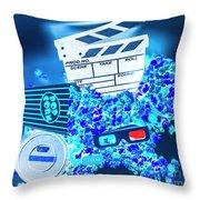 Blue Screen Entertainment Throw Pillow