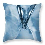 Blue Spring Throw Pillow