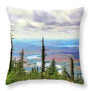 Blue To Raquette Throw Pillow