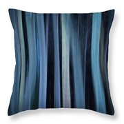Blue Trees 1 Throw Pillow