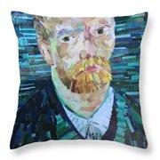 Blue Van Gogh Throw Pillow