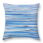 Blue Water Abstract 8621 Throw Pillow