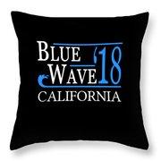 Blue Wave California Vote Democrat 2018 Throw Pillow