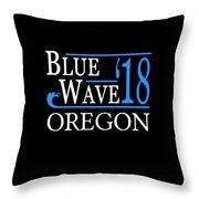 Blue Wave Oregon Vote Democrat 2018 Throw Pillow