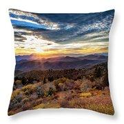 Blueridge Mountain Sunburst Throw Pillow