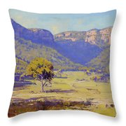 Bluffs Of The Capertee Valley Throw Pillow