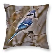 Bluiejay Throw Pillow