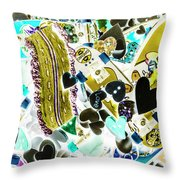 Boarding Background Throw Pillow