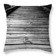 Boardwalk  Throw Pillow by Doug Camara