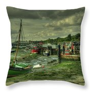 Boats At Leigh On Sea  Throw Pillow