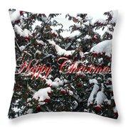 Happy Christmas 12 Throw Pillow