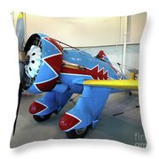 Boeing P-26 Peashooter Throw Pillow